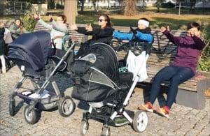 Outdoor-Fitness für aktive Mütter