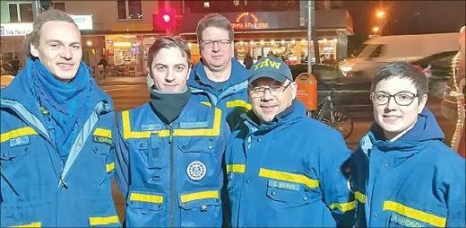 Das Team vom THW mit Leiter Sascha Braun (2.v.r.) Foto: bs