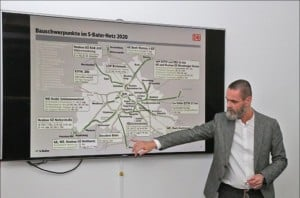 Bauen auf der S-Bahn-Schiene