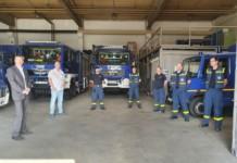 Schulstadtrat dankt THW Reinickendorf für Desinfektionsmittelverteilung