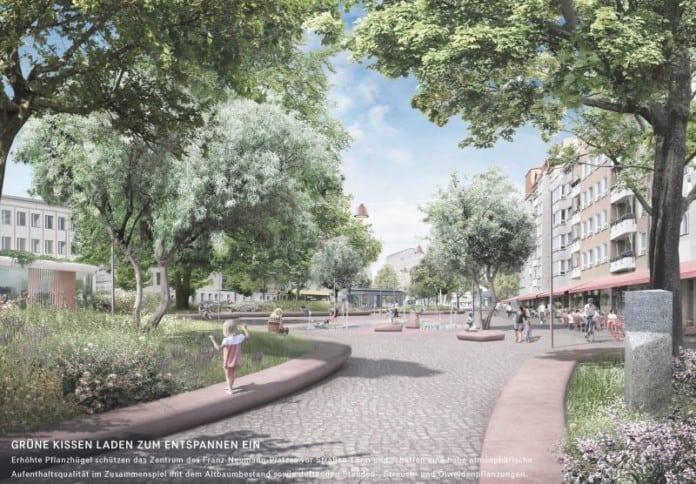 Entwurf für Neugestaltung Franz-Neumann-Platz