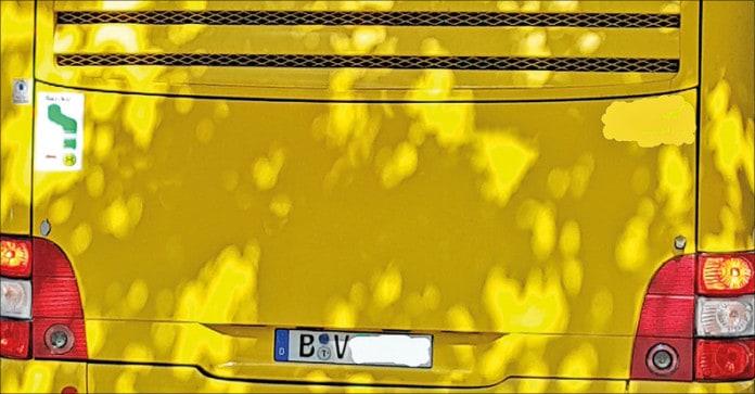 Bus-Rückansicht