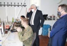 Bundespräsident besuchte Corona-Lagezentrum in Reinickendorf