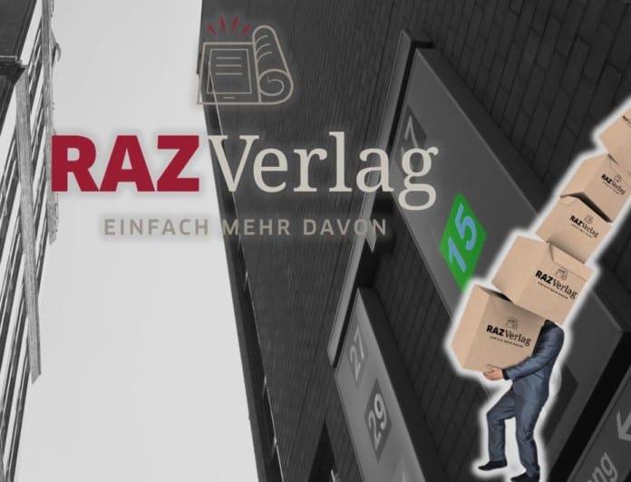 Grafik zum Umzug des RAZ Verlags