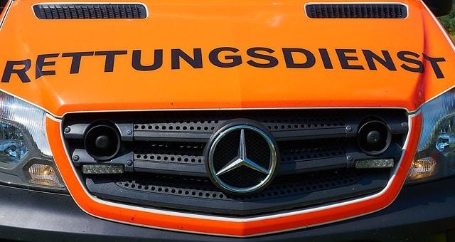 Front eines Rettungswagens