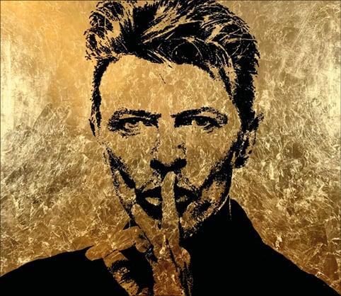 Kunstwerk zeigt David Bowie