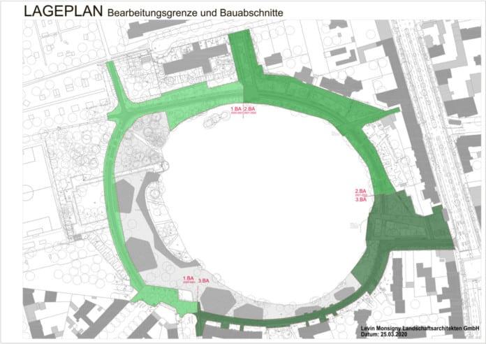Lageplan des Schäfersees