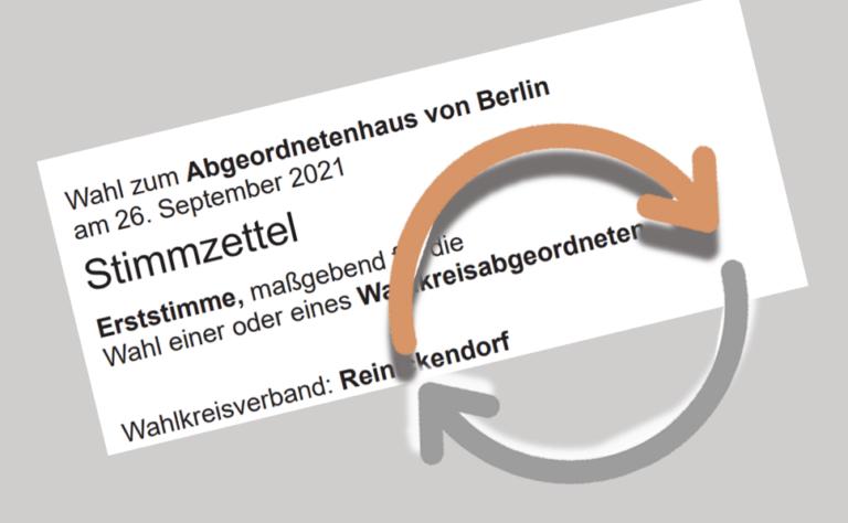 Reinickendorf zählt Wahlstimmen nach