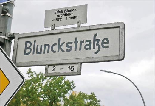 "Straßenschild ""Blunckstraße"""